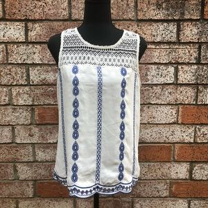 Skies are Blue Kenzie Embroidered top